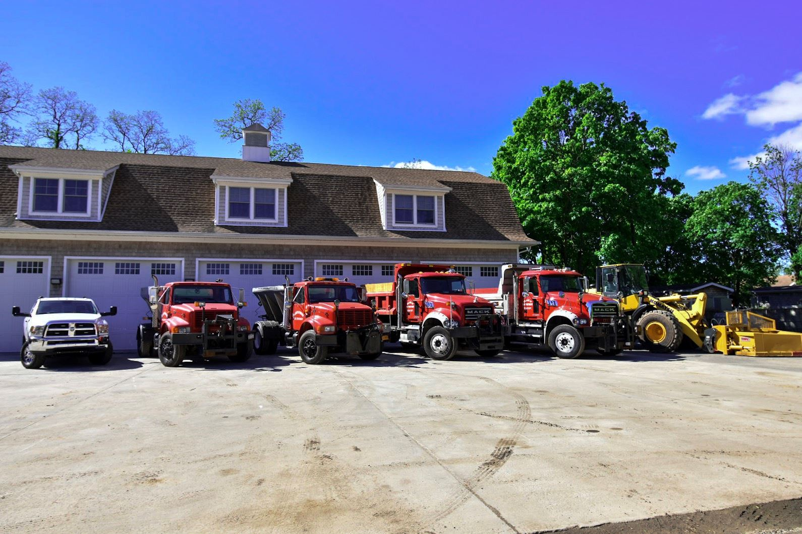 DPW Trucks Lined Up